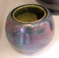 Claudia Luque Studio - raku bluegreen