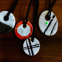 Claudia Luque Studio - raku necklaces